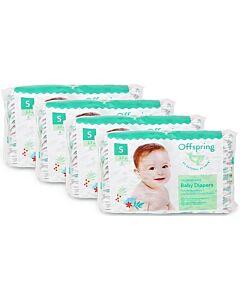 Offspring Fashion Diapers (Chlorine Free) S48 - Giraffe *4 Pack Bundle*