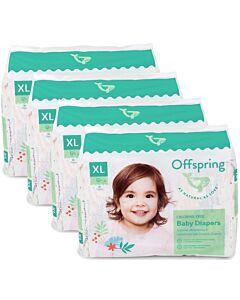 Offspring Fashion Diapers (Chlorine Free) XL30 - Kitties *4 Pack Bundle*