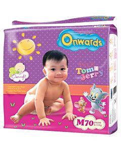 Onwards baby diapers (Mega pack) - M70 (for babies 6-11kg)
