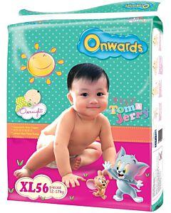 Onwards baby diapers (Mega pack) - XL56 (for babies 12-17kg)