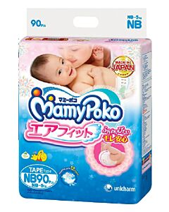 MamyPoko Open Air Fit (Tape) NB90 (NB-5kg)