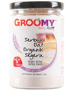 Groomy Organic Instant Oatmeal Powder 200g (For 6+ Months) - 35% OFF!!