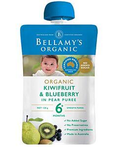 Bellamy's: Organic Kiwifruit & Blueberry 120g (Ready to serve)