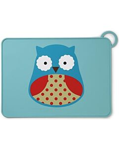 Skip Hop: Zoo Fold & Go Silicone Kids Placemat - Owl - 15% OFF!!