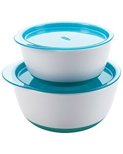 OXO TOT: Small & Large Bowl Set - Teal - 25% OFF!