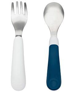 OXO TOT: Fork & Spoon Set - Navy - 20% OFF!