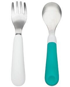 OXO TOT: Fork & Spoon Set - Teal - 20% OFF!