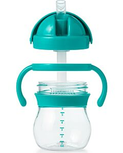 OXO TOT: Grow Straw Cup With Removable Handles (6oz/150ml) - Teal - 20% OFF!!
