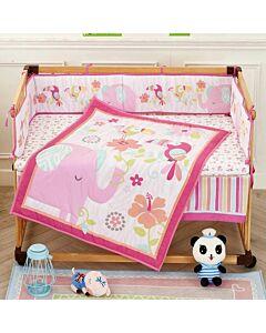 Happy Cot: Bedding Set - Rainforest Pink - 10% OFF!!
