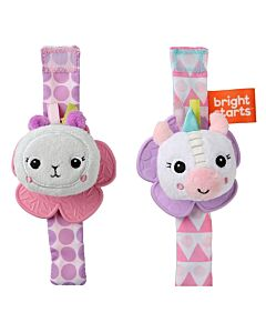 Bright Starts: Rattle & Teethe Wrist Pals™ Unicorn & Llama - 10% OFF!!