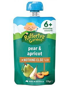 Rafferty's Garden: Pear & Apricot 120g (6+ Months) - 23% OFF!!