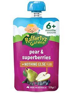 Rafferty's Garden: Pear & Superberries 120g (6+ Months) - 23% OFF!!