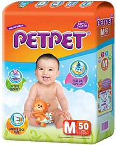 PET PET Diapers - Medium M50 - BEST BUY!