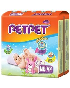 Pet Pet Diapers - NB62 (up to 5kg)