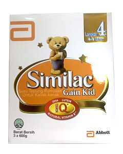 Similac: Gain Kid Milk Powder (3 - 9 yrs old) 600g x 3