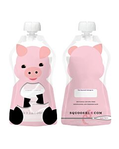 Squooshi: Large Food Storage Pouch (Pig) 130ml - 26% OFF!!
