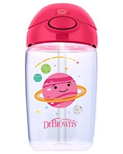 Dr. Brown's: Straw Cup 12oz/350ml - Pink Planets - 20% OFF!!