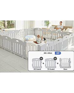 ALZiP® Mat Baby Room   Size S 10pcs (207*127*65cm) - Plain Grey