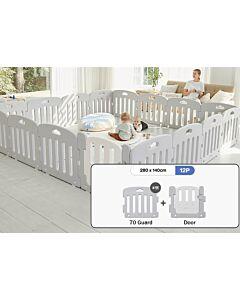 ALZiP® Mat Baby Room   Size XG 12pcs (287*147*65cm) - Plain Grey