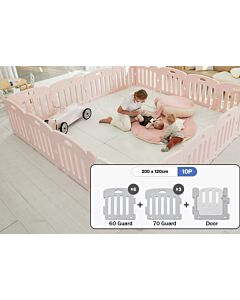 ALZiP® Mat Baby Room   Size S 10pcs (207*127*65cm) - Plain Pink