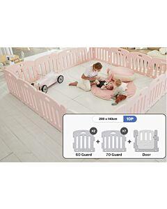 ALZiP® Mat Baby Room   Size G 10pcs (207*147*65cm) - Plain Pink