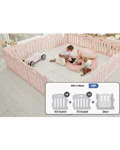 ALZiP® Mat Baby Room   Size SG 12pcs (247*147*65cm) - Plain Pink