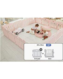 ALZiP® Mat Baby Room   Size XG 12pcs (287*147*65cm) - Plain Pink