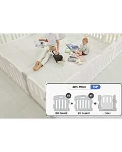 ALZiP® Mat Baby Room   Size G 10pcs (207*147*65cm) - Plain White