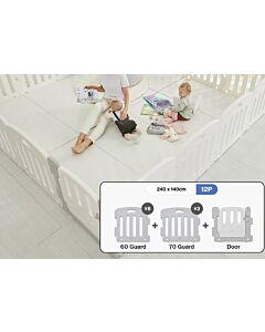 ALZiP® Mat Baby Room   Size SG 12pcs (247*147*65cm) - Plain White