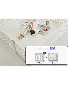 ALZiP® Mat Baby Room   Size XG 12pcs (287*147*65cm) - Plain White