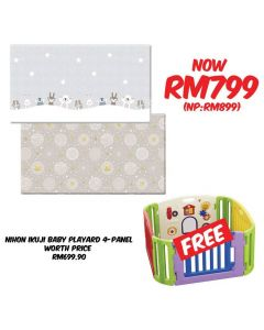 Dwingular Premium Eco-Friendly Hello Friends Baby Playmat ( + FREE! Nihon Ikuji Baby Playard 4 Panels)