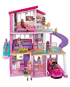 Barbie® DreamHouse™ Dollhouse with Pool, Slide and Elevator, Plus Lights, Sounds and 70+ Accessories (3Y+) - 15% OFF!!