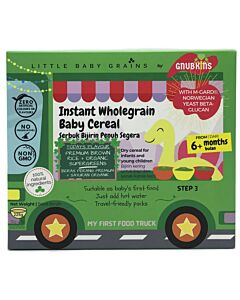 Little Baby Grains: Instant Wholegrain Baby Cereal | Premium Brown Rice + Organic Supergreens (From 6+ Months)