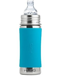 Pura Kiki: Stainless Steel Sippy Cup Bottle With Sleeve 11oz / 325ml (Aqua Blue) - 20% OFF!!