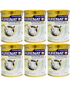 Purenat PREMIUM Pure Goat Milk Powder, 800g [6 TIN COMBO] - 24% OFF!!