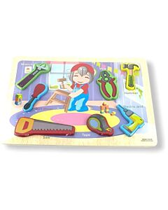Funny Kid's: Puzzle Board - Building Tools - 10% OFF!!