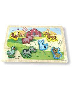 Funny Kid's: Puzzle Board - Domestic Animals - 10% OFF!!