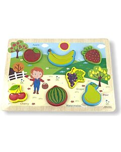 Funny Kid's: Puzzle Board - Fruit - 10% OFF!!