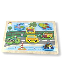 Funny Kid's: Puzzle Board - Transportation - 10% OFF!!