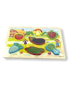 Funny Kid's: Puzzle Board - Vegetable - 10% OFF!!