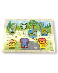Funny Kid's: Puzzle Board - Wild Animals (Set B) - 10% OFF!!