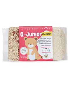 Little Baby Grains: Q-Junior | Natural White and Red Rice with Organic Millet and Quinoa (From 15+ Months) - 5% OFF!!