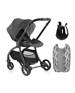 Egg® Quail Stroller: Quantum Grey On Chasis (FREE Backpanel + Cup holder) -25% OFF!!
