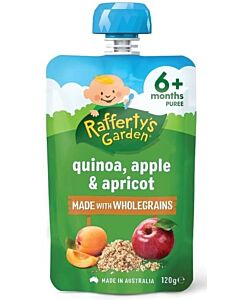 Rafferty's Garden: Quinoa, Apple & Apricot 120g (6+ Months) - 14% OFF!!