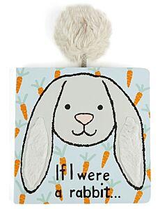 Jellycat: If I were a Rabbit Board Book - Silver (15cm)