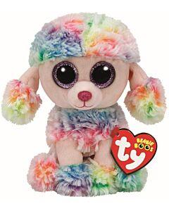 Ty Beanie Boos: Rainbow - Multicolor Poodle (Regular)