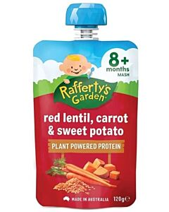 Rafferty's Garden: Red Lentil, Carrot & Sweet Potato 120g (8+ Months) - 14% OFF!!