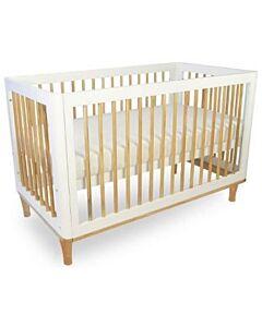 Babyhood: Riya Cot (White) + My First Breathe Eze Innerspring Mattress + 5pcs Bedding Set - 5% OFF!!