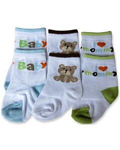 Bumble Bee: Socks - Baby Bear Socks 3 Pairs (12-24 months)
