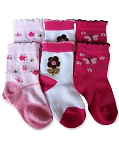 Bumble Bee: Socks - Butterfly Love Flower Socks 3 Pairs (12-24 months)